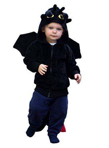 ComfyCamper Dragon Costume Animal Play Sweatshirt Hoodie Boys / Girls (18-24 Months)