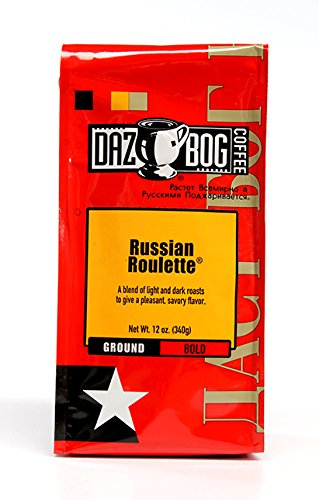 Dazbog Ground Coffee, Russian Roulette Blend, 12 Ounce