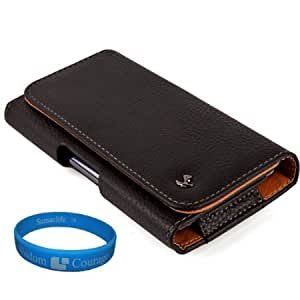 Viesrod Premium Fuax Leather Holster Case Pouch (LEA066) for HTC Butterfly S / Droid DNA Smartphone + SumacLife TM Wisdom...