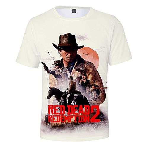Xxs Stampa T Ctooo Uomo shirt Red 08 Unisex xxxl Redemption Dead 2 uFc513lTKJ