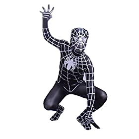 - 41QpNwSZc3L - Wraith of East Black Superhero Boys Halloween Costume Cosplay Full Bodysuit Zentai
