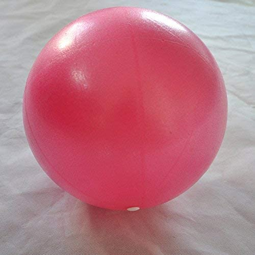 Beautyrain 1Pc Yogo Ball with Straw Small Exercise Ball for Yoga Pilates Barre Physical Therapy