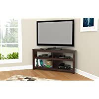 Inval MTV-13519 Espresso Wengue Wood 50 Corner TV Stand