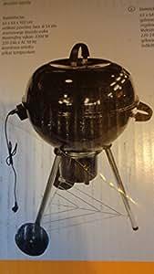 Gran eléctrico de bola de barbacoa con tapa Diámetro 54cm