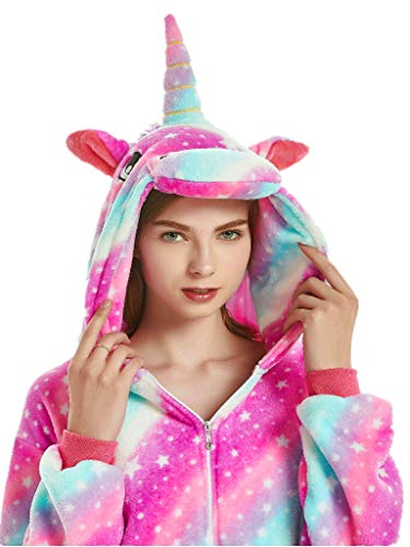 Adult Onesies for Women Men Teens Unicorn Pajamas Animal Costume One Piece -
