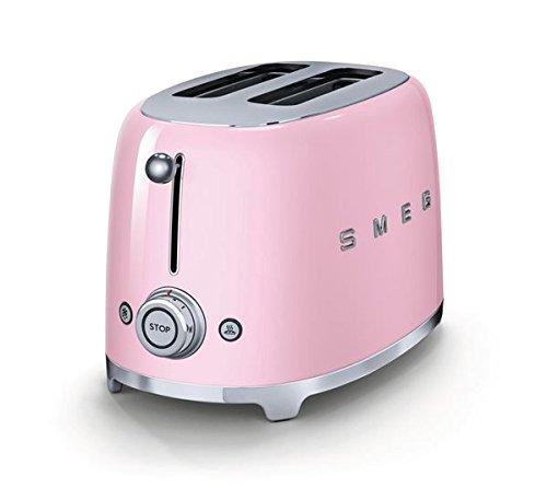 Smeg-TSF01PKUS-50s-Retro-Style-Aesthetic-2-Slice-Toaster-Pink