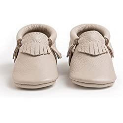 Freshly Picked Soft Sole Leather Baby Moccasins