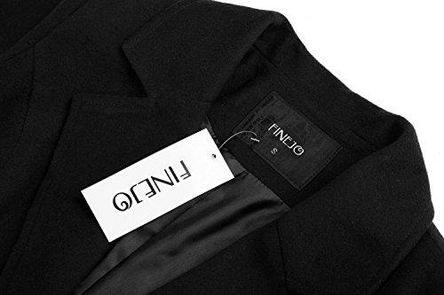 Epais Classique Slim Noir Manteaux Femmes Extra Hiver Pardessus Long Fit Automne Solide Zearo Trench Coat FP5B8x