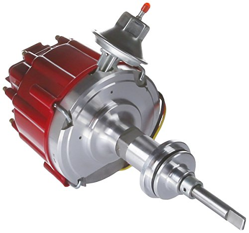 (Top Street Performance JM6513R HEI Distributor with Red Cap)