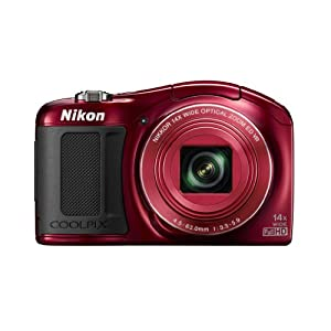 Nikon COOLPIX L620 18.1 MP CMOS Digital Camera with 14x Zoom Lens and Full 1080p HD Video (Red) (Discontinued by Manufacturer)