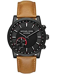 Access Men's 'Hutton Hybrid Smartwatch' Quartz Stainless Steel and Leather Casual Watch, Color Brown (Model: MKT4026)