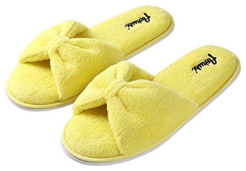 Aerusi Womens Splash Spa Pantofola Giallo Limone
