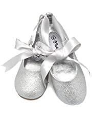 Olivia K Girls Adorable Ballerina Mary Jane Flats Ribbon Tie Shoes
