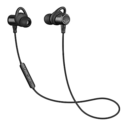 Dudios Bluetooth Headphones Magnetic Wireless Earbuds IPX6 Sweatproof Sports Earphones with Mic (CVC 6.0 Noise Cancelling, 8 Hours Music Time, aptx Stereo, Secure Fit & lightweight)-Black