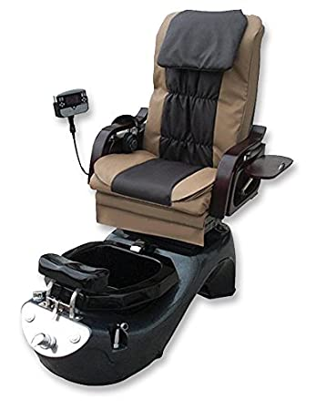 amazon com pedicure spa chair w human touch massager cup holder