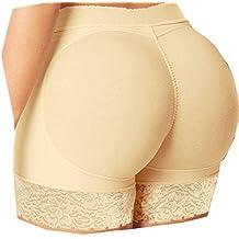 2019 Women Interior Push Up Padded Fake Ass Underwear,Ladies Plus Size Lingerie Sexy Panties (M, Beige)