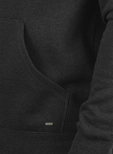 Capuche À Melange 8288 solid Pour Bert Homme Grey Dark Polaire Pull Doublure Hoodie Sweat EtwRp