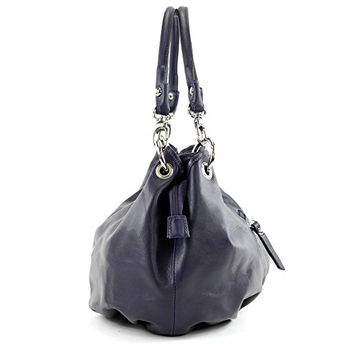 Italian Leather It40 Bag Women's Handbag Dunkellila Shoulder Nappa AwqArI