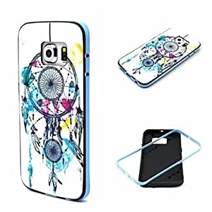 QHY Windmill Pattern TPU Back Cover with PC Bumper Shockproof Soft Case for Samsung Galaxy S6Edge