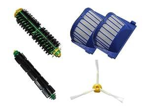CIMC LLC For Roomba 500 600 Beater + Bristle + side Brush + 2 aerovac filters 550 560 530 570