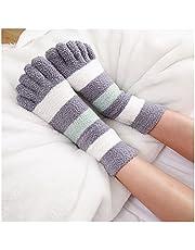teen sokken voor vrouwen Dikke Bemanning Sokken Winter Warm Coral Fleece Fluffy Teen Sokken Gestreepte Soft Cosy Hosiery Laides Meisjes Vrouwelijke Floor Slippers teen sokken