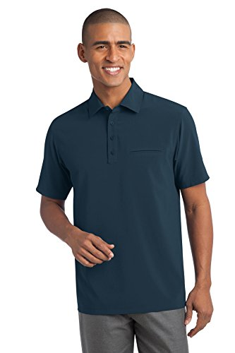Port Authority Herren Ultra Stretch Pocket Polo Shirt Gr. Large, Blau - Blau (Regatta Blue)