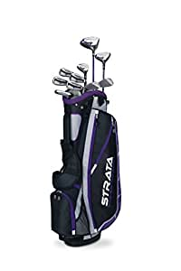 Callaway FY-STPLLA16 Women's Strata Plus Complete Golf Club Set with Bag (14 Piece), Right Hand