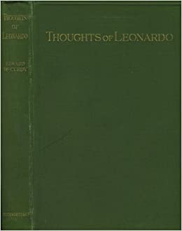 the thoughts of leonardo da vinci as recorded in his note books