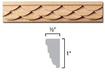 Tallado Set de moldura en madera de haya europea - Dimensiones: 1 x 1/2 x 96 cm: Amazon.es: Bricolaje y herramientas