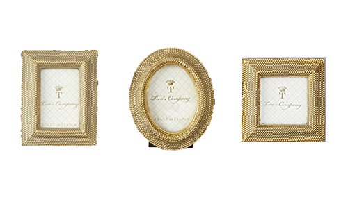 Two's Company GOLDEN DOTS PHOTO FRAME ASST 3 SHAPES