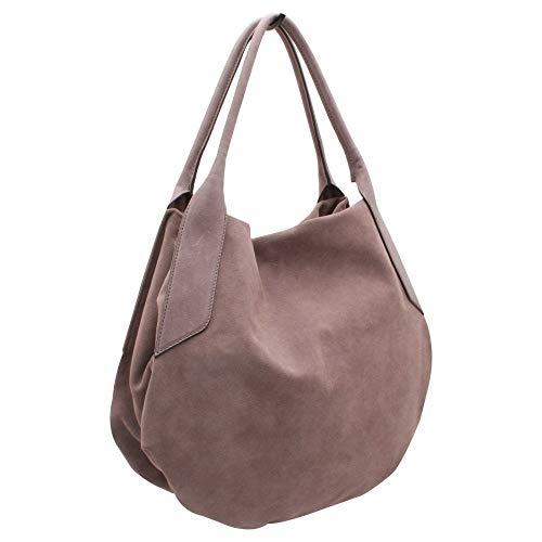 Handle Leather Grey Handbag Grab Abro Soft Suede IFqExxwPR