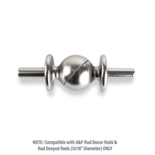 A&F Rod Decor - Adjustable Curtain Rod Corner Connector, 13/16 inch diameter, Satin Nickel