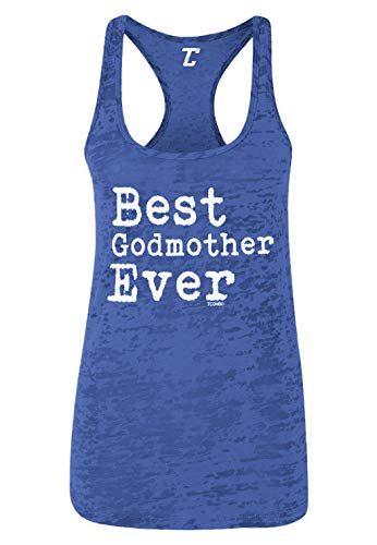 Best Godmother Ever - Mother's Day Women's Racerback Tank Top (Royal Blue, X-Small)