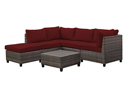 Tampa 6 piece outdoor rattan wicker sofa sectional sets for Affordable furniture tampa
