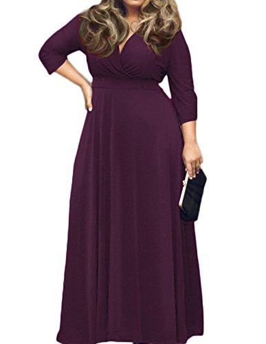 3 4 sleeve evening dresses - 2