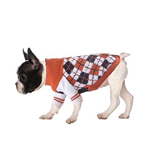 Argyle Knit Dress (LovinPet Dog Sweater Soft Dog Clothes Winter Cotton Pet Sweater)