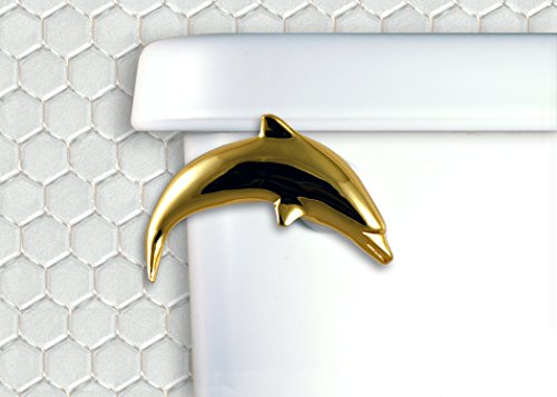 Functional Fine Art Dolphin Toilet Flush Handle- Gold Finish