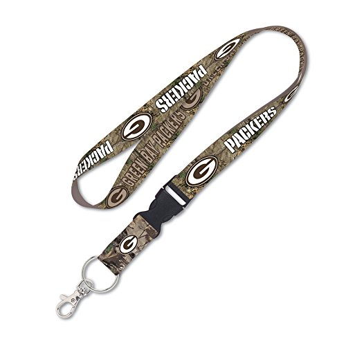 (WinCraft Green Bay Packers Camouflage Lanyard with Detachable Buckle)