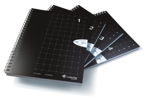 livescribe-a5-grid-notebook-1-4-4-pack