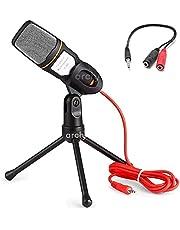 Archy Microfono Condensador KM21 + Divisor de Audio y Microfono