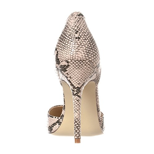 Slip Toe D'Orsay Riverberry On Pointed Nora Pump Python Heels Women's Beige pZqUwO