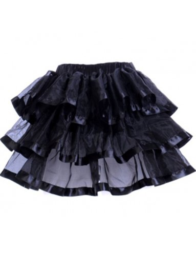 [Yummy Bee Womens Tutu Skirt Burlesque Costume Plus Size 6 - 8, Black] (Pink Moulin Rouge Costumes)