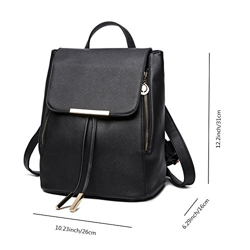 Bag Backpack Fashion Pu Kangaroo Women Rose Leather Rucksack Shoulder Wink Ladies Travel Girls FHABxqt4