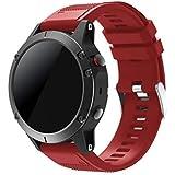 Junboer Garmin Fenix 5 Cinturino, Braccialetto Morbido di Ricambio in Silicone per Garmin Fenix 5 / Forerunner 935 / Fenix 5 Plus Smart Watch (NON per Fenix 5X o 5S)