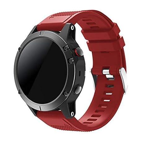 SUPORE Garmin Fenix 5 Watch Banda, Ajuste rápido Correa de Reloj de Silicona Suave para Garmin Fenix 5 GPS Smart Watch: Amazon.es: Electrónica