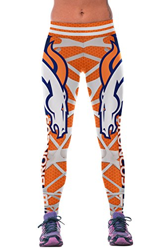 COCOLEGGINGS Womens Digital Print Yoga Athletic Leggings Orange Free (S-L)