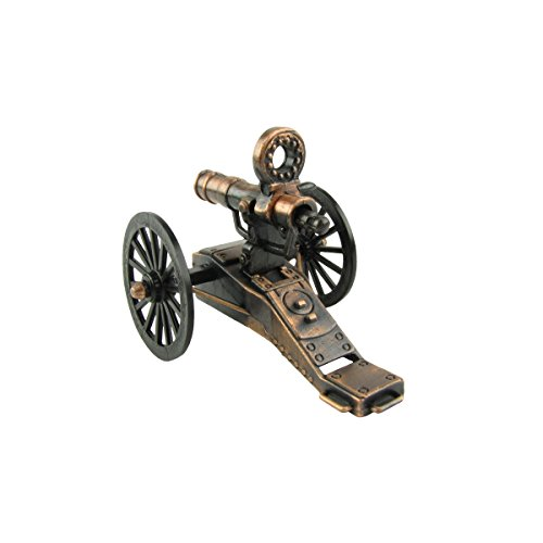 Civil War Era Hand Crank Gatling Gun Die Cast Miniature Replica Pencil Sharpener