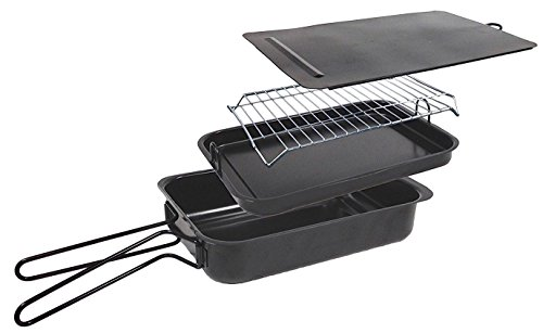 Savannah Kitchen Large Indoor / Outdoor Non-Stick Stovetop Smoker (15.75