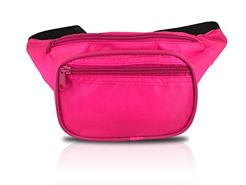 Hot Pink Neon Fanny Pack for Concerts, Raves, and Festivals (Neon Pink)]()