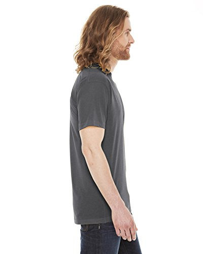 American Apparel Unisex Poly/cotton Short Sleeve Crew Neck T bb401 - Asphalt - L